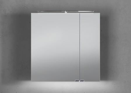 Spiegelschrank Bad 70 cm LED Beleuchtung mit Farbwechsel doppelt verspiegelt