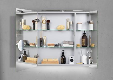 Spiegelschrank Bad 70 cm LED Beleuchtung mit Farbwechsel doppelt verspiegelt - Vorschau 2