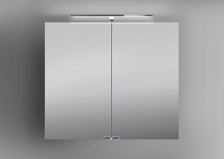 Spiegelschrank Bad 80 cm LED Beleuchtung doppelseitig verspiegelt