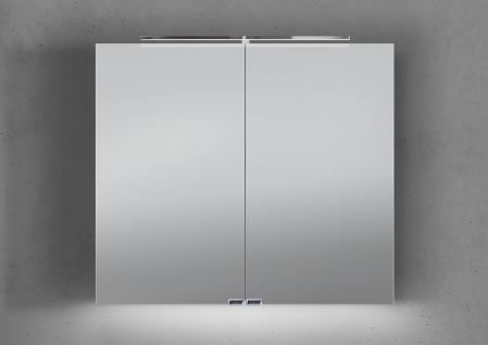 Spiegelschrank Bad 80 cm LED Beleuchtung mit Farbwechsel doppelt verspiegelt - Vorschau 1