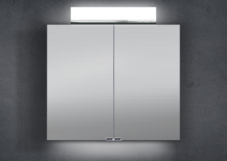 Spiegelschrank Bad 80 cm LED Beleuchtung doppelt verspiegelt