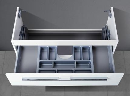 Unterschrank zu Keramag iCon 120 cm Doppelwaschtisch (1 Ablauf) Kosmetikeinsatz - Vorschau 2