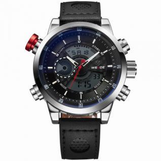 Sport Armbanduhr schwarz/weiß