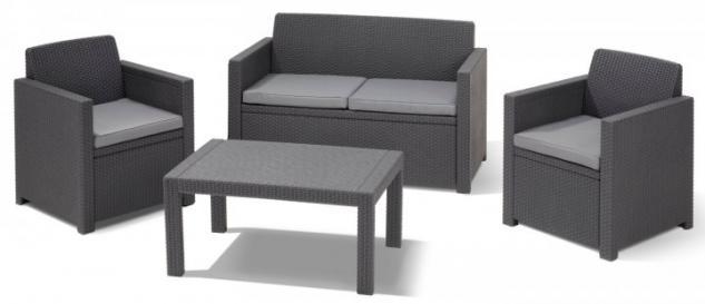 allibert sitzgruppe monaco lounge set gartenm bel. Black Bedroom Furniture Sets. Home Design Ideas