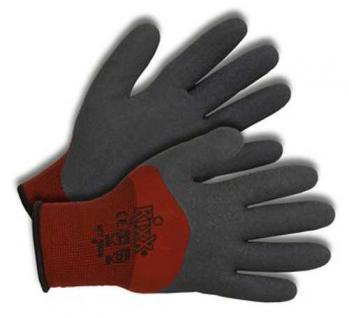KIXX Handschuh Winter Nylon/Latex Rot/Grau, Gr. 11