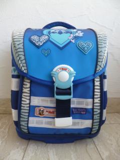 """McNeill Schultasche Schulrucksack """" Blue Hearts"""" 6-tlg. blau NEU!!!"""