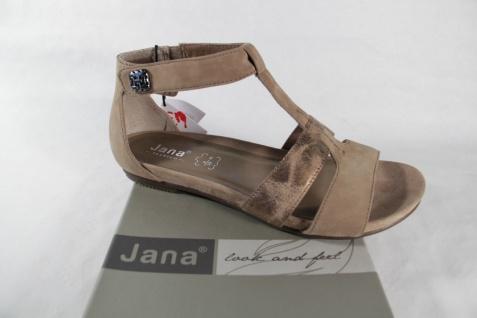 Jana Damen Sandalen Sandaletten beige, weiche Innensohle Weite H NEU!!