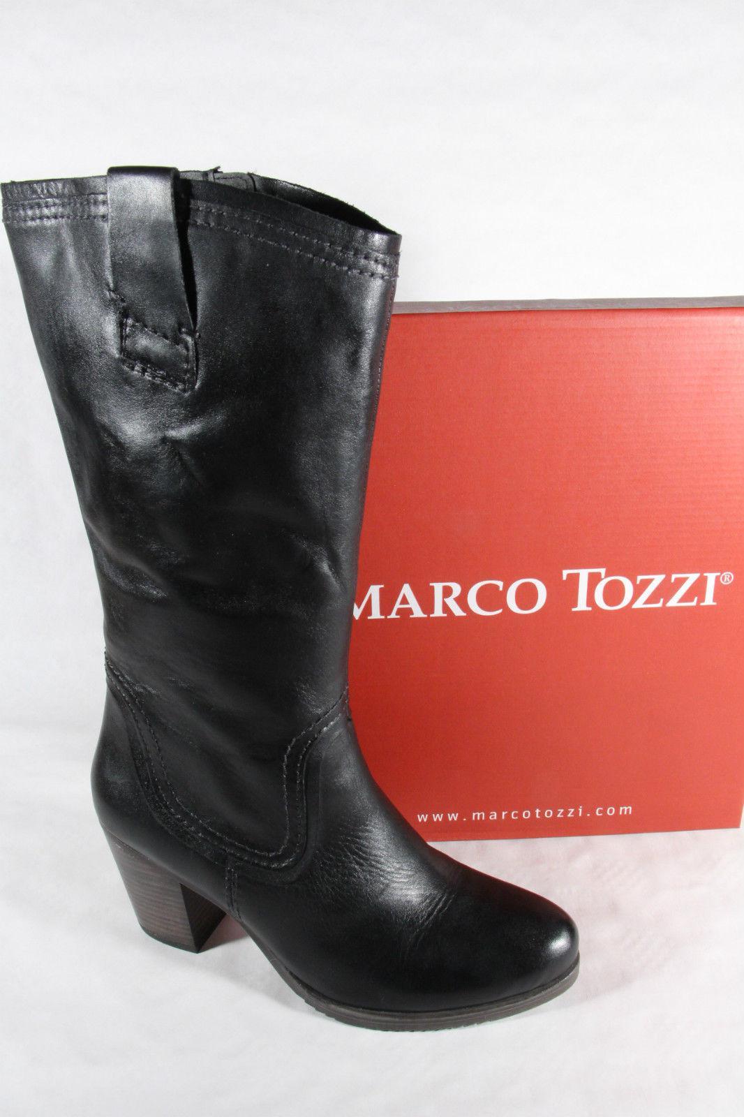 marco tozzi stiefel schwarz leicht gef ttert rv 25574. Black Bedroom Furniture Sets. Home Design Ideas