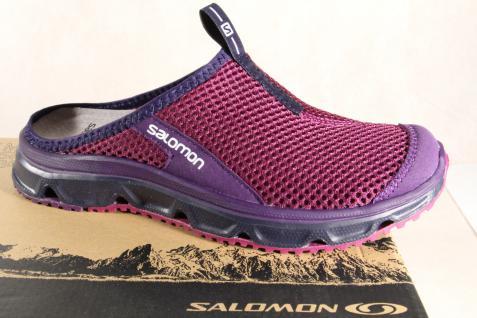 Salomon Clogs RX Slide, violett, Lederinnenfußbett 39392449 NEU