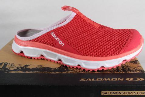 Salomon Clogs Sabot RX Slide pink/weiß Lederinnenfußbett Stoff NEU