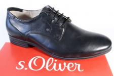 S.Oliver Herren Schnürschuhe, Halbschuhe, Sneaker schwarz 13204 Leder NEU!!