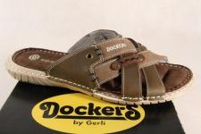 Dockers Pantolette braun, weiche Innensohle Echtleder 11433 NEU