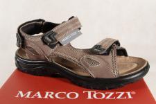 Marco Tozzi Sandale Sandalen braun , weiches Lederfußbett 18400 NEU