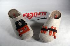 Florett Damen Pantoffel, Hausschuhe, Filz, Filzfutter, Wechselfußbett 02834 NEU