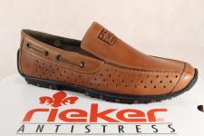 Rieker Herren Slipper Sneakers Halbschuhe 08969 braun Echtleder NEU