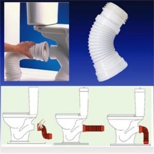 Flexible WC-Verbindung Problemlöser für den WC-Anschluss Länge : 270 - 540mm!! - Vorschau 2