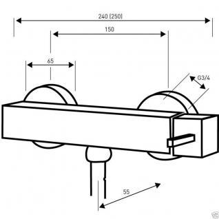 Design Wannenfüller Bad Badezimmer Wasserhahn Chrom Badewanne Armatur DN04 - Vorschau 2