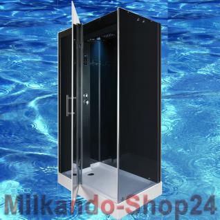 DUSCHTEMPEL FERTIGDUSCHE DUSCHKABINE ECHT ESG GLAS 120 x 80 x 217CM Dusche SPA