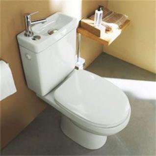 Design Stand Wc komplett set Spülkasten KERAMIK inkl. Waschbecken Gäste WC - Vorschau 5