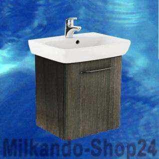 Waschplatz mit Waschbecken WB-Unterschrank Waschtisch Badmöbel + Armatur+Siphon