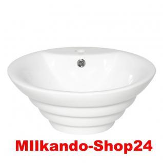 Design Keramik Aufsatzwaschbecken Waschbecken Waschtisch Waschschale Bad Kr 134 - Vorschau 1