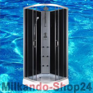 DUSCHTEMPEL FERTIGDUSCHE DUSCHKABINE ECHT GLAS KOMPLETT DUSCHE Wanne 90 X 90 cm - Vorschau 1
