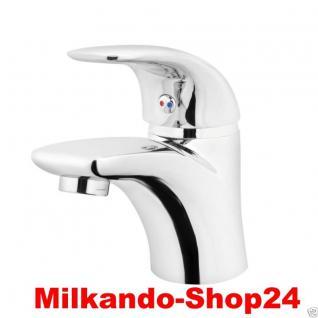 Design Einhandmischer Bad Badezimmer Wasserhahn Chrom Waschtisch Armatur Li01 - Vorschau 1