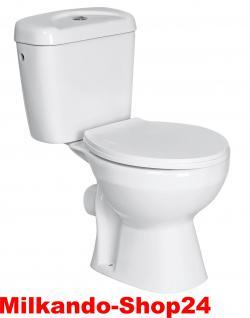Design Wc Toilette Stand komplett set Spülkasten KERAMIK Inkl.Wc Sitz kombi. - Vorschau 1