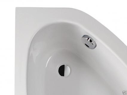 Badewanne Eckwanne Wanne 150 x 100 cm Links + Wannenträger + Ablauf+ Schürze !! - Vorschau 4