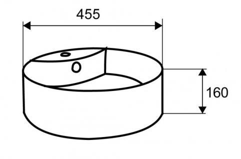 Design Keramik Aufsatzwaschbecken Waschbecken Waschtisch Waschschale Bad Kr 137 - Vorschau 2