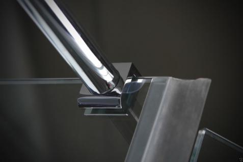 Luxus DUSCHTEMPEL DUSCHKABINE ECHT ESG GLAS ECK Duschabtrennung 100 x 80 cm GR - Vorschau 4