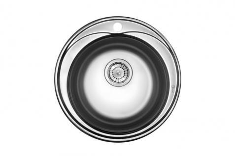 Edelstahl Küchenspüle Rundspüle Waschbecken Einbauspüle Spüle+Zub. Spülbecken - Vorschau 4