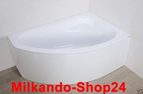 Badewanne Eckwanne Wanne 140 x 90 cm Links + Wannenträger + Ablauf+ Schürze !!