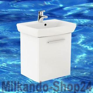 Waschplatz mit Waschbecken WB-Unterschrank Waschtisch Badmöbel + Armatur+Siphon - Vorschau 1