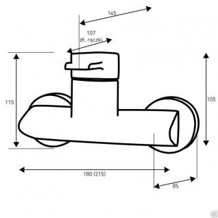 Design Wannenfüller Bad Badezimmer Wasserhahn Chrom Badewanne Armatur VE04 - Vorschau 2