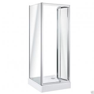 Viertelkreis Dusche Echtglas Duschabtrennung Duschkabine Runddusche Duschwanne T