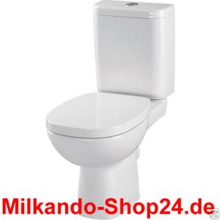 Design Wc Toilette Stand komplett set Spülkasten KERAMIK Inkl.Sitz Antibakteriel