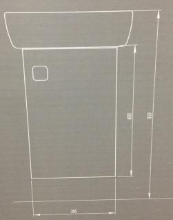 Waschbecken Gäste WC Unterschrank Badmöbel Hochglanz Badezimmer Kollo Pi Möbel - Vorschau 4