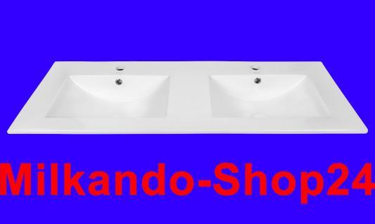 120CM Design Einbauwaschbecken Einbauwaschschale Waschbecken Doppelwaschbecken - Vorschau 1