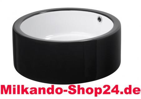 Spülstein Aufsatz Waschbecken Waschtisch Keramik Waschbecken WC Kr 17 Schwarz