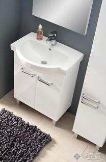 Waschbecken Gäste WC WB-Unterschrank Waschtisch Badmöbel Hochglanz Badezimmer - Vorschau 4