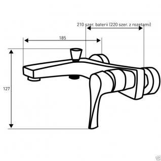 Design Wannenfüller Bad Badezimmer Wasserhahn Chrom Badewanne Armatur SE3 - Vorschau 2