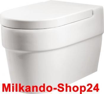 Hänge Waschbecken Keramik + Hänge Wc inkl. Wc Sitz mit absentautomatik Komplett - Vorschau 3