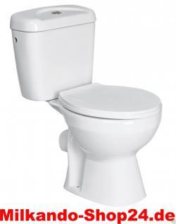 Design Wc Toilette Stand komplett set Spülkasten aus KERAMIK mit Wc Sitz 3/6L - Vorschau 1