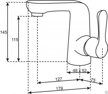Design Waschbecken-/Waschtisch-Armatur Einhebelmischer Mischbatterie WC/Bad C01 - Vorschau 3