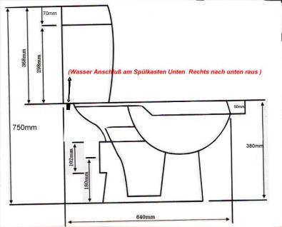 Wc Toilette Stand komplett set mit Spülkasten KERAMIK NEU Ware kombination - Vorschau 3