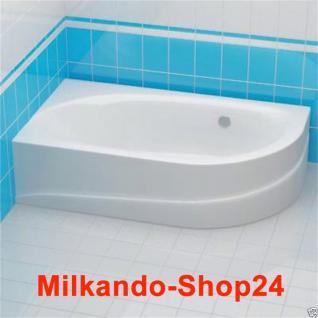 Badewanne Wanne eckig Eckwanne 160 x 90 cm inkl. Schürze + Ablauf + Füße Top Set - Vorschau 1