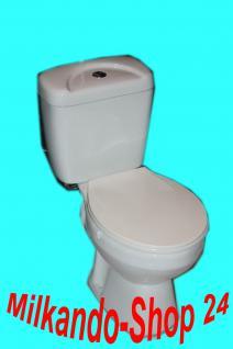 Wc Toilette Stand komplett set mit Spülkasten KERAMIK Inkl. Wc Sitz waagerecht !