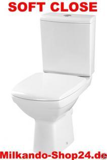 Design Wc Toilette Stand komplett set  Spülkasten KERAMIK Inkl.Wc Sitz kombi