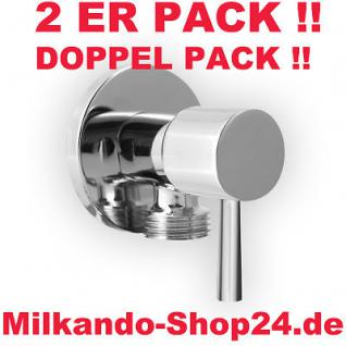 2ER PACK ECKVENTIL 1/2 ZOLL ECKIG RUND + WANDROSETTE ZOCH 1/2 zu 3/8 Zoll - Vorschau 1